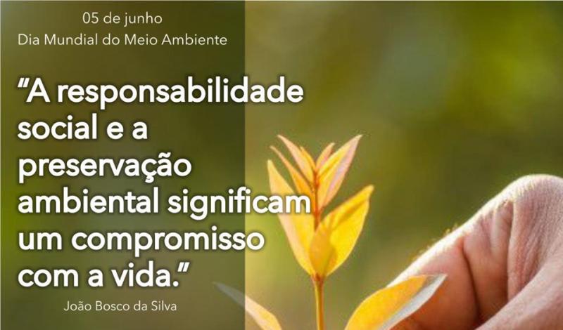 Imagem destaque notícia 05 DE JUNHO, DIA MUNDIAL DO MEIO AMBIENTE