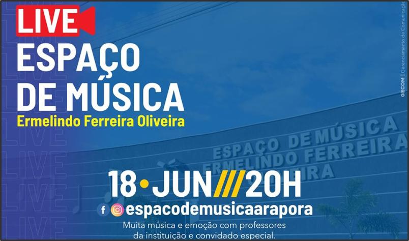 Imagem destaque notícia ESPAÇO DE MÚSICA PREPARA LIVE MUSICAL