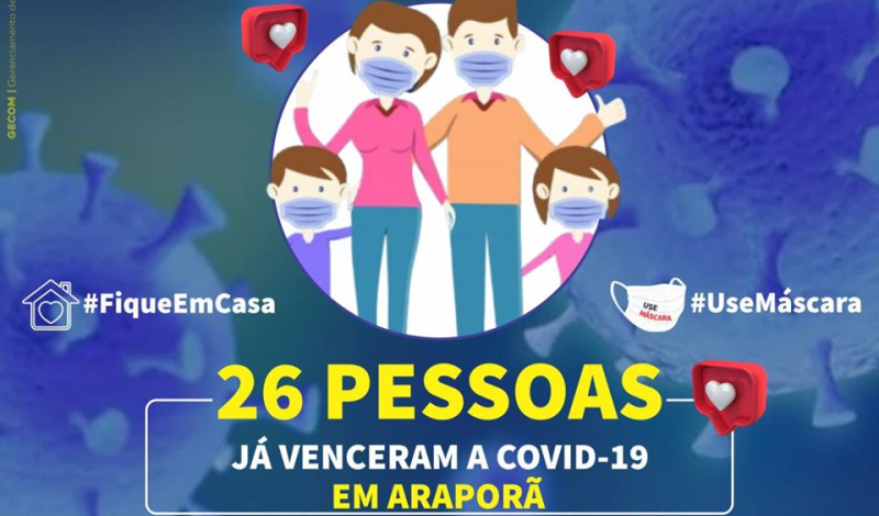 Imagem destaque notícia ARAPORÃ JÁ TEM 26 PACIENTES CURADOS DA COVID-19