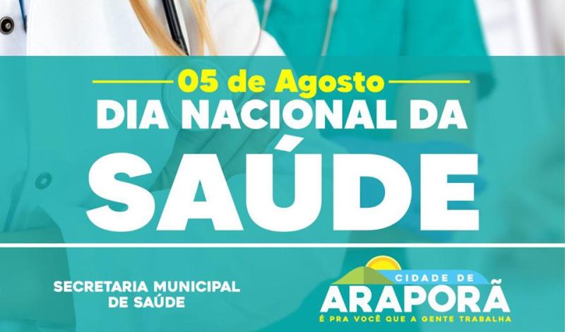 Imagem destaque notícia 05 DE AGOSTO - DIA NACIONAL DA SAÚDE