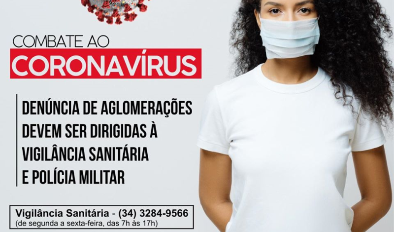 Imagem destaque notícia DENÚNCIA DE AGLOMERAÇÕES DEVEM SER DIRIGIDAS À VIGILÂNCIA SANITÁRIA E POLÍCIA MILITAR