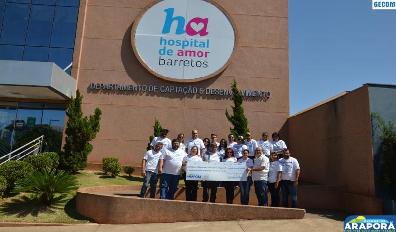 Imagem destaque notícia Prefeitura de Araporã entrega R$ 63 mil para Hospital de Câncer de Barretos