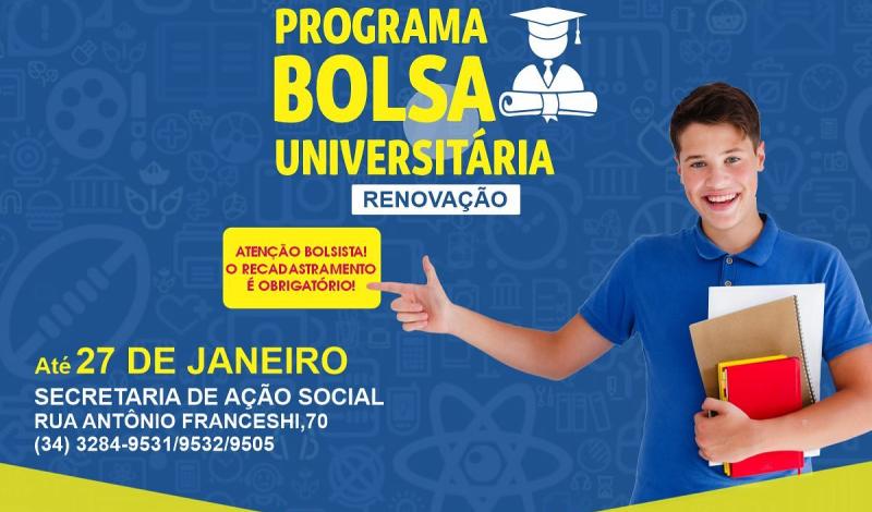 Imagem destaque notícia PREFEITURA DE ARAPORÃ INICIA RENOVAÇÃO DE CADASTRO PARA A BOLSA UNIVERSITÁRIA
