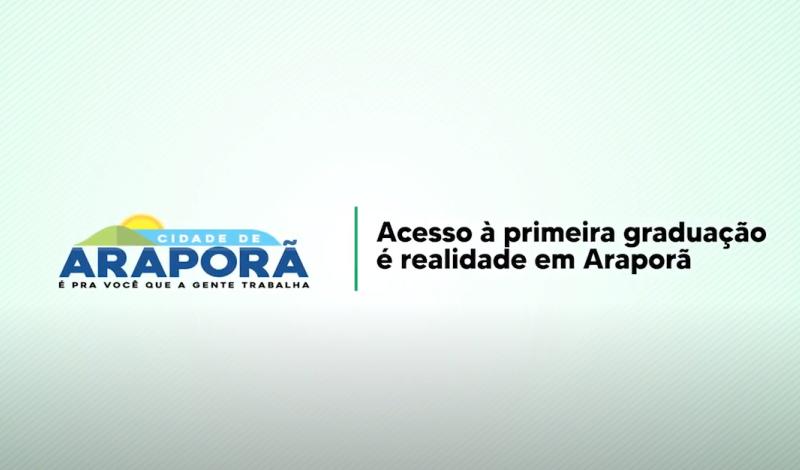 Imagem destaque notícia PREFEITURA DE ARAPORÃ TEM 49 NOVOS BOLSISTAS EM 2021 NO PROGRAMA BOLSA UNIVERSITÁRIA
