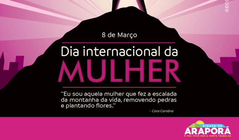 Imagem destaque notícia 08 DE MARÇO – DIA INTERNACIONAL DA MULHER
