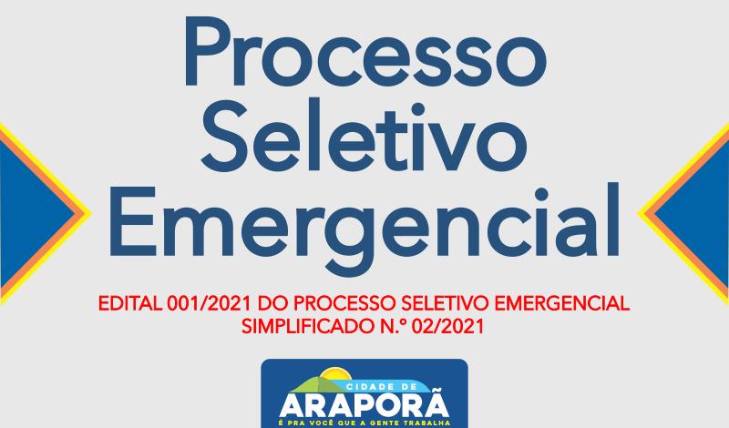 Imagem destaque notícia EDITAL 001/2021 DO PROCESSO SELETIVO EMERGENCIAL SIMPLIFICADO N.º 02/2021