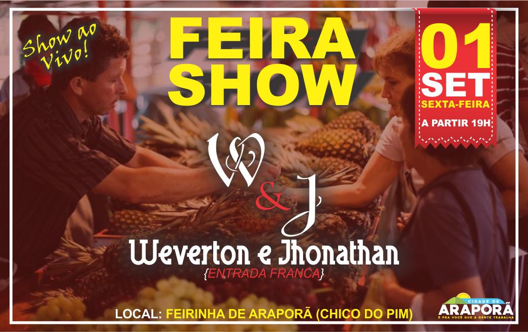 Imagem destaque notícia Feira livre de Araporã recebe show sertanejo ao vivo