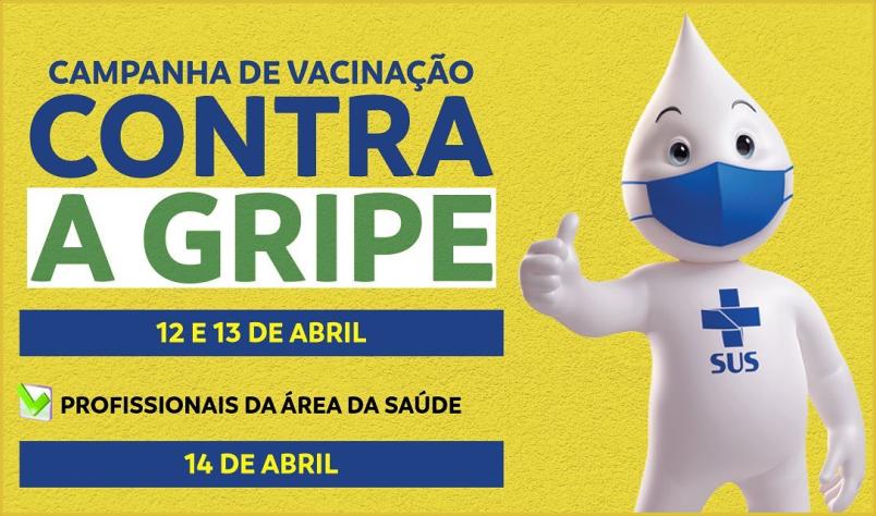 Imagem destaque notícia VACINAÇÃO CONTRA A GRIPE COMEÇA DIA 12