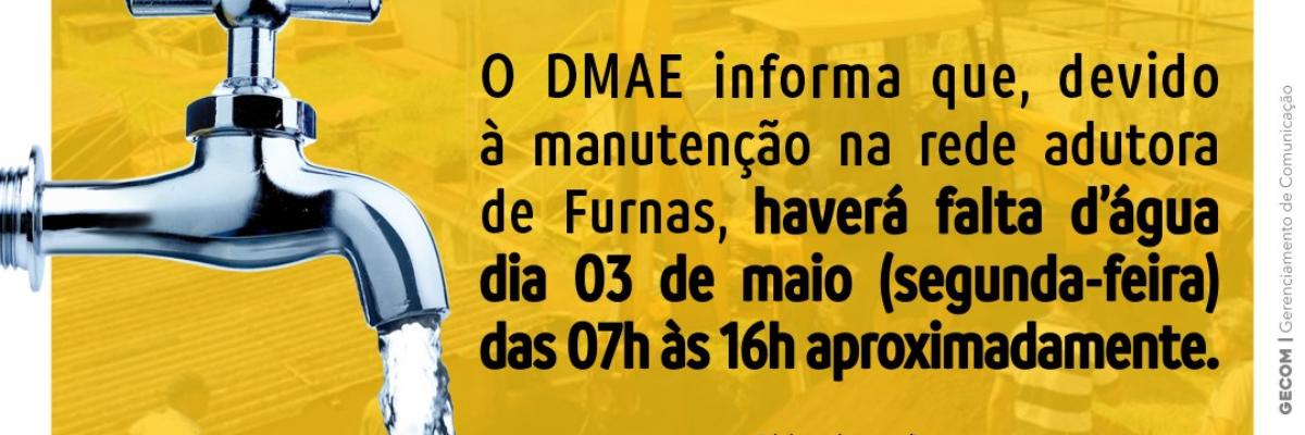 Imagem destaque notícia MANUTENÇÃO NA REDE VAI CAUSAR INSTABILIDADE NO FORNECIMENTO DE ÁGUA EM ARAPORÃ, NA SEGUNDA-FEIRA (3)