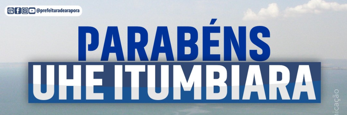 Imagem destaque notícia PARABÉNS UHE ITUMBIARA