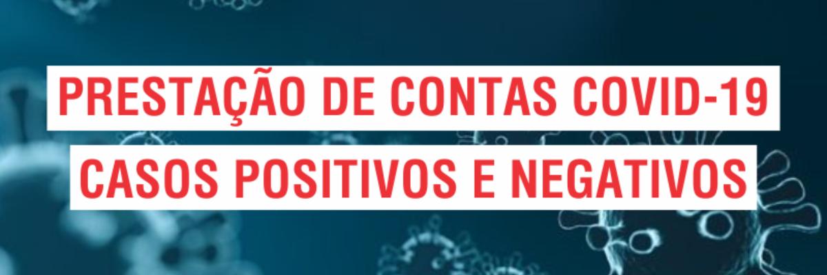 Imagem destaque notícia PRESTAÇÃO DE CONTAS COVID-19 - 01/05/2021