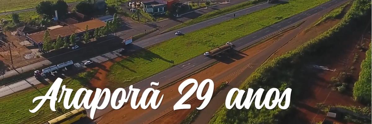 Imagem destaque notícia AOS 29 ANOS, ARAPORÃ GANHA OBRAS QUE SOMAM MAIS DE R$ 7 MILHÕES