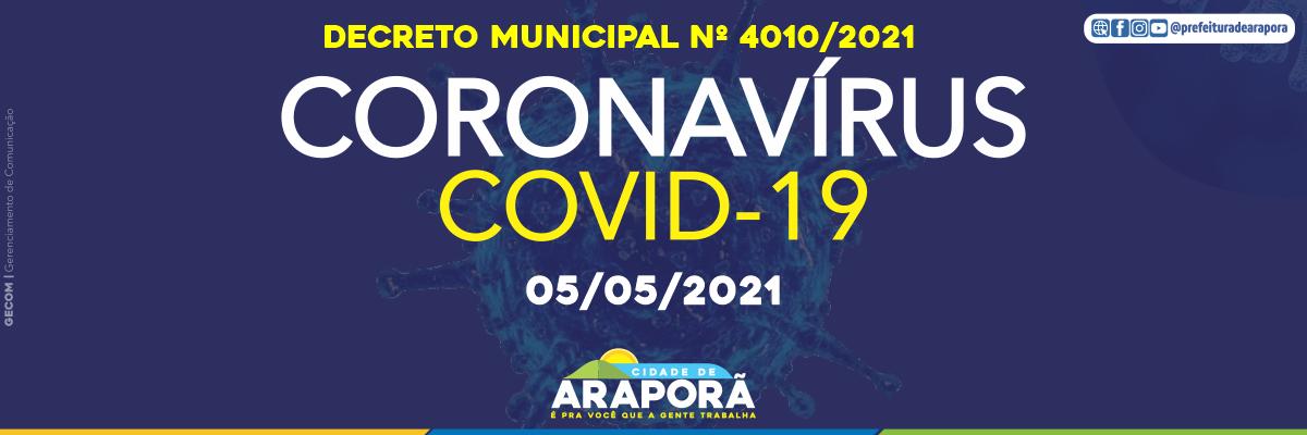 Imagem destaque notícia DECRETO N° 4010/2021 - 05/05/2021