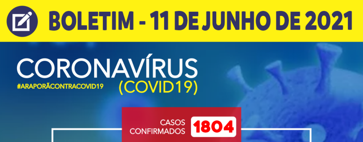 Imagem destaque notícia BOLETIM CORONAVÍRUS - 11/06/2021