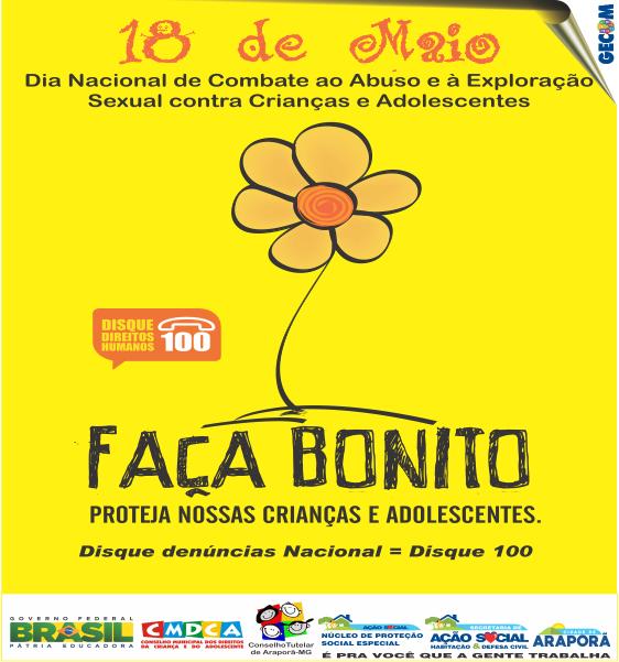 Imagem destaque notícia Araporã abraça a Campanha Faça Bonito e elabora estratégias de combate ao abuso e à exploração sexual de crianças e adolescentes