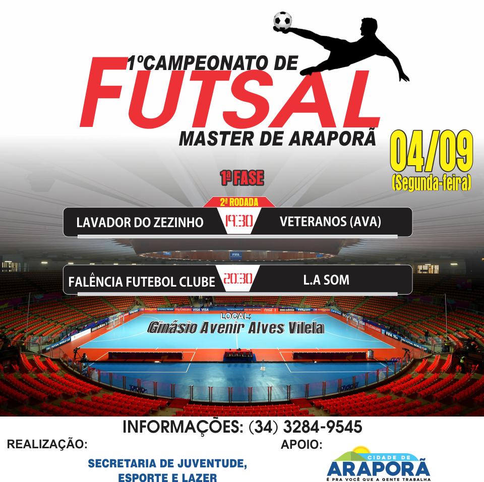 Imagem destaque notícia Acontece hoje mais dois jogos do Campeonato Master de Futsal