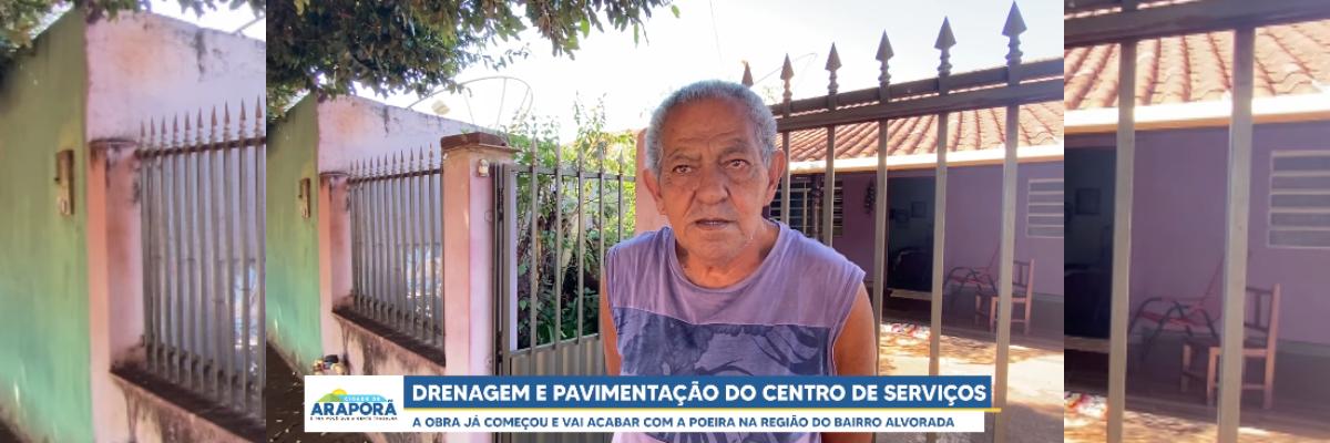 Imagem destaque notícia OBRAS DO CENTRO DE SERVIÇOS DE ARAPORÃ ESTÁ A TODO VAPOR