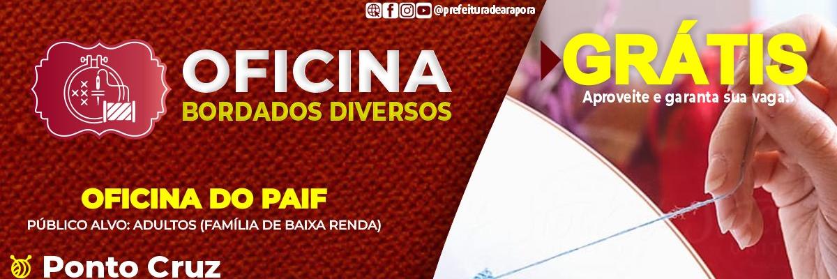 Imagem destaque notícia INSCRIÇÕES ABERTAS PARA A OFICINA DE BORDADOS DIVERSOS