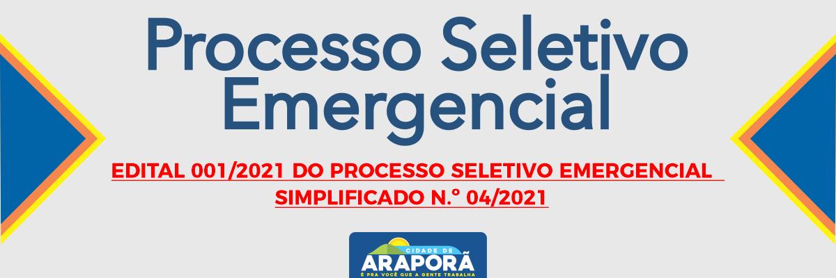 Imagem destaque notícia EDITAL 001/2021 DO PROCESSO SELETIVO EMERGENCIAL  SIMPLIFICADO N.º 04/2021