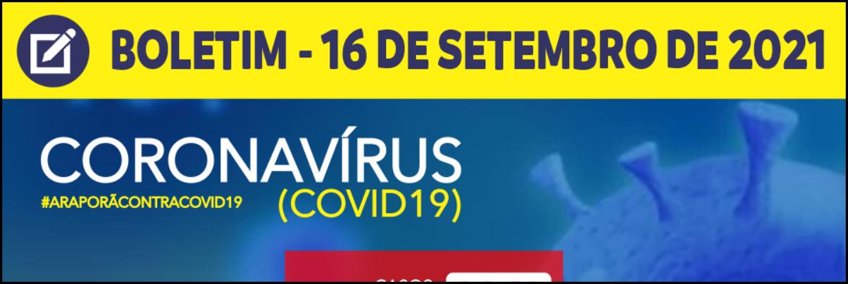 Imagem destaque notícia BOLETIM CORONAVÍRUS - 16/09/2021