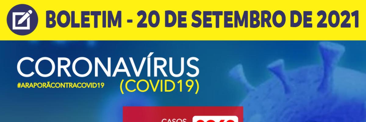 Imagem destaque notícia BOLETIM CORONAVÍRUS - 20/09/2021