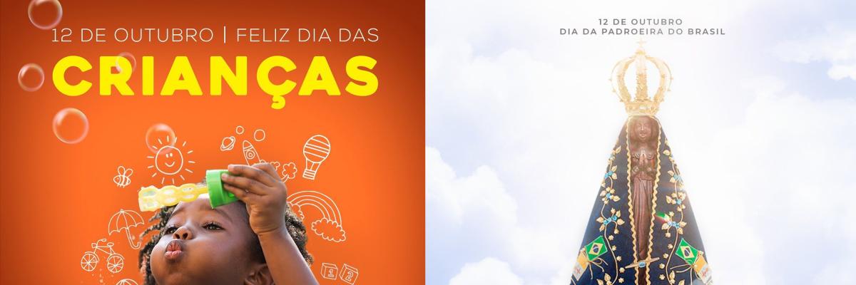 Imagem destaque notícia 12 DE OUTUBRO - DIA DE NOSSA SENHORA APARECIDA - PADROEIRA DO BRASIL E DIA DAS CRIANÇAS