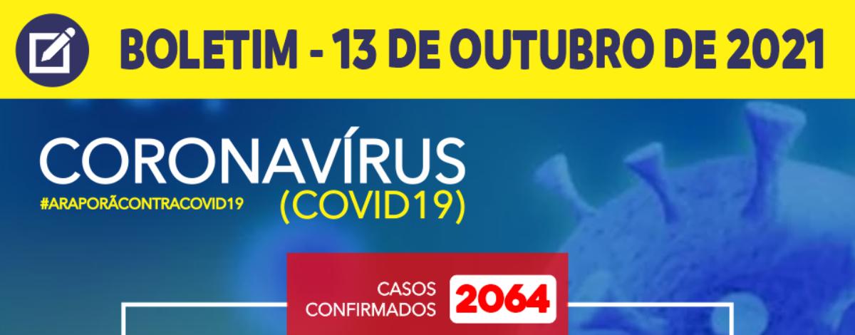 Imagem destaque notícia BOLETIM CORONAVÍRUS - 13/10/2021
