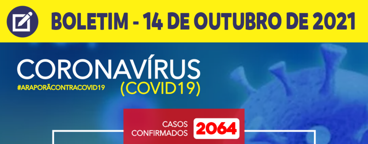 Imagem destaque notícia BOLETIM CORONAVÍRUS - 14/10/2021