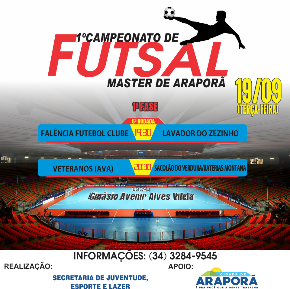 Imagem destaque notícia Após cinco rodadas torneio de Futsal Master começa a definir finalistas