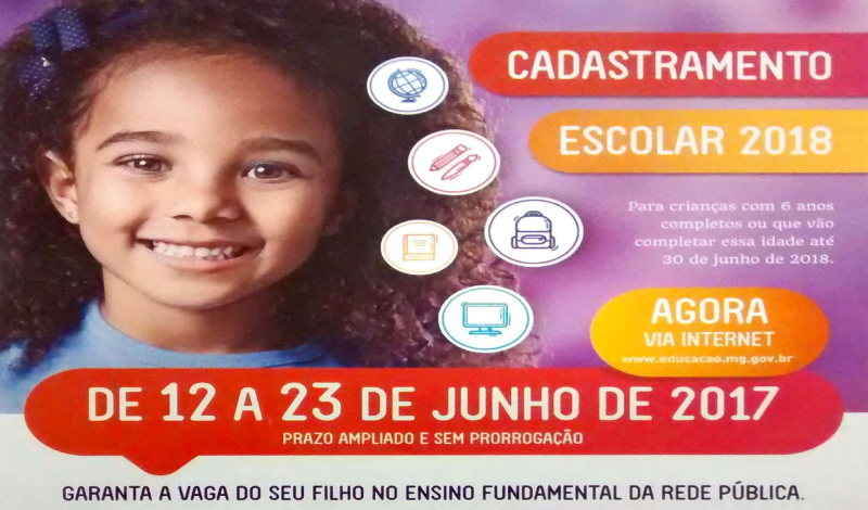 Imagem destaque notícia Educação inicia cadastro escolar para ano letivo de 2018