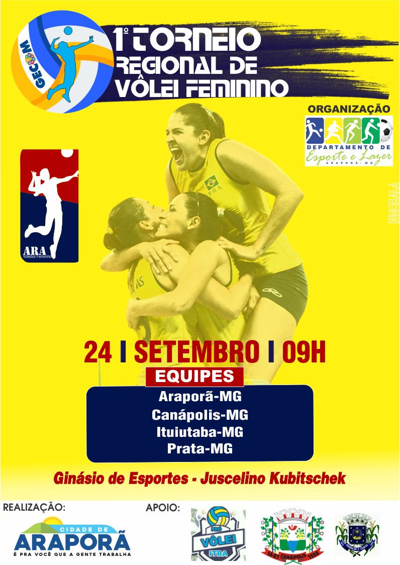 Imagem destaque notícia Araporã recebe etapa do Torneio Regional de Vôlei Feminino