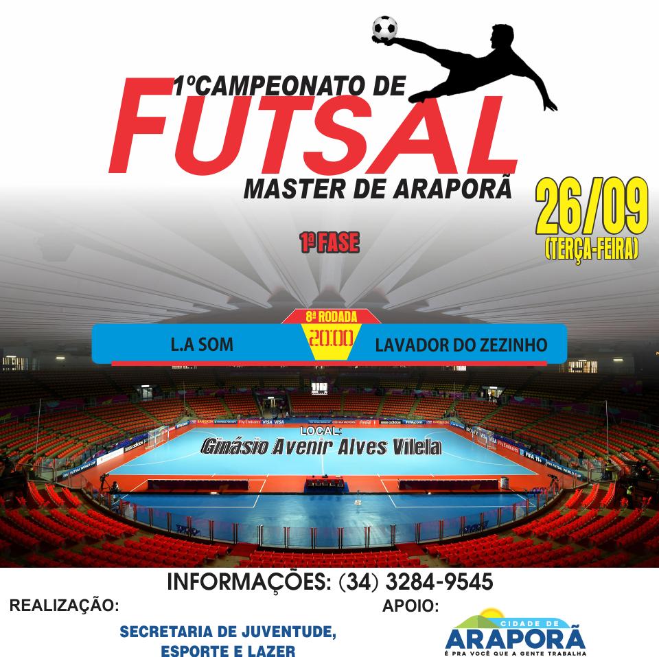 Imagem destaque notícia Encerra hoje 1ª fase do Campeonato Master de Futsal