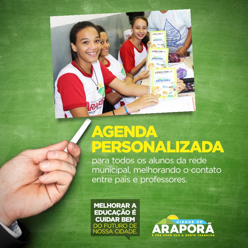Imagem destaque notícia Agenda Personalizada para todos os alunos da Rede Municipal