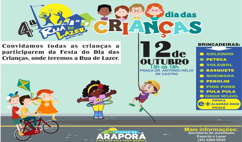 Imagem destaque notícia Dia da Criança será comemorado com Rua de Lazer