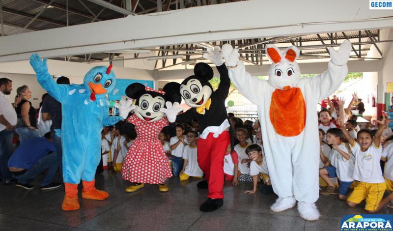 Imagem destaque notícia  Prefeitura de Araporã inicia comemoração da Semana das Crianças