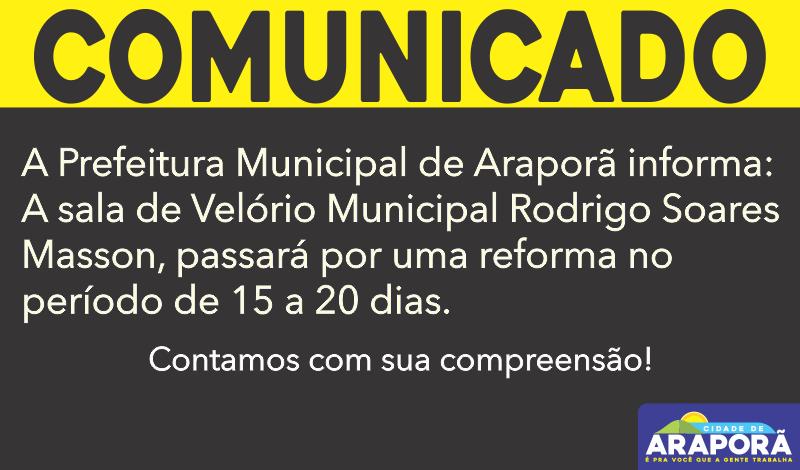 Imagem destaque notícia SALA DE VELÓRIO MUNICIPAL PASSARÁ POR REFORMA