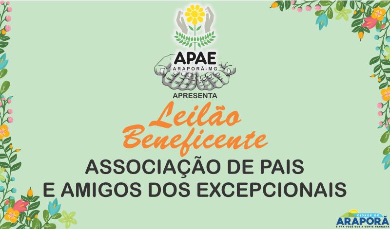 Imagem destaque notícia APAE realiza leilão beneficente em Araporã