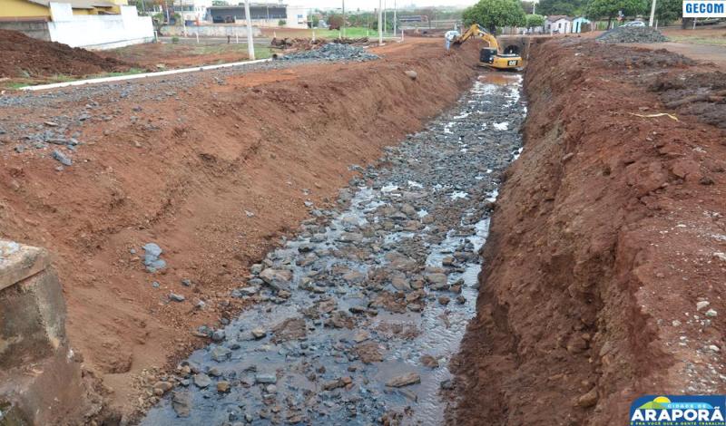 Imagem destaque notícia Prefeitura dá ritmo à obra de recuperação do Córrego Alvorada