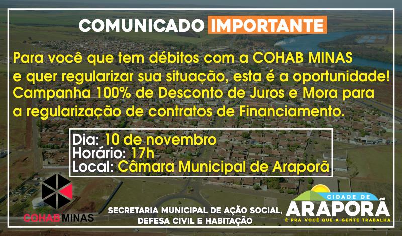 Imagem destaque notícia Prefeitura reúne mutuários em débito com a Cohab para regularização de financiamentos