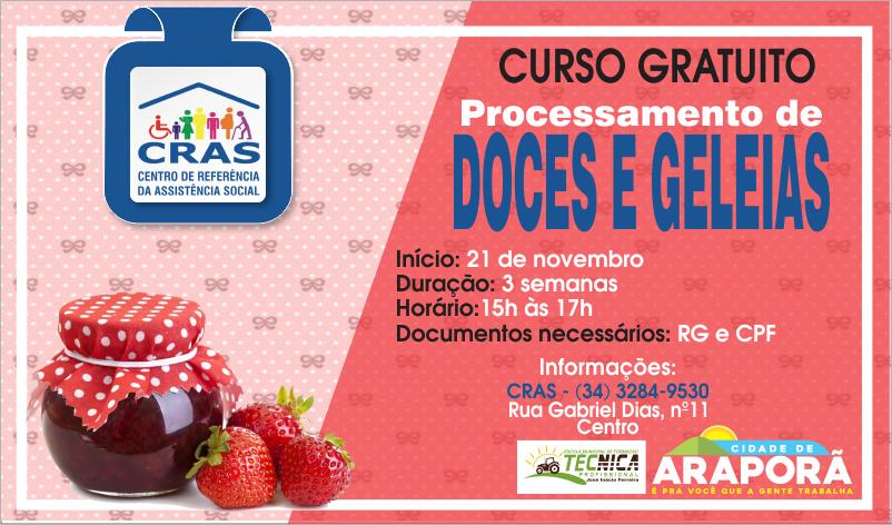 Imagem destaque notícia CRAS oferece curso gratuito de doces e geleias