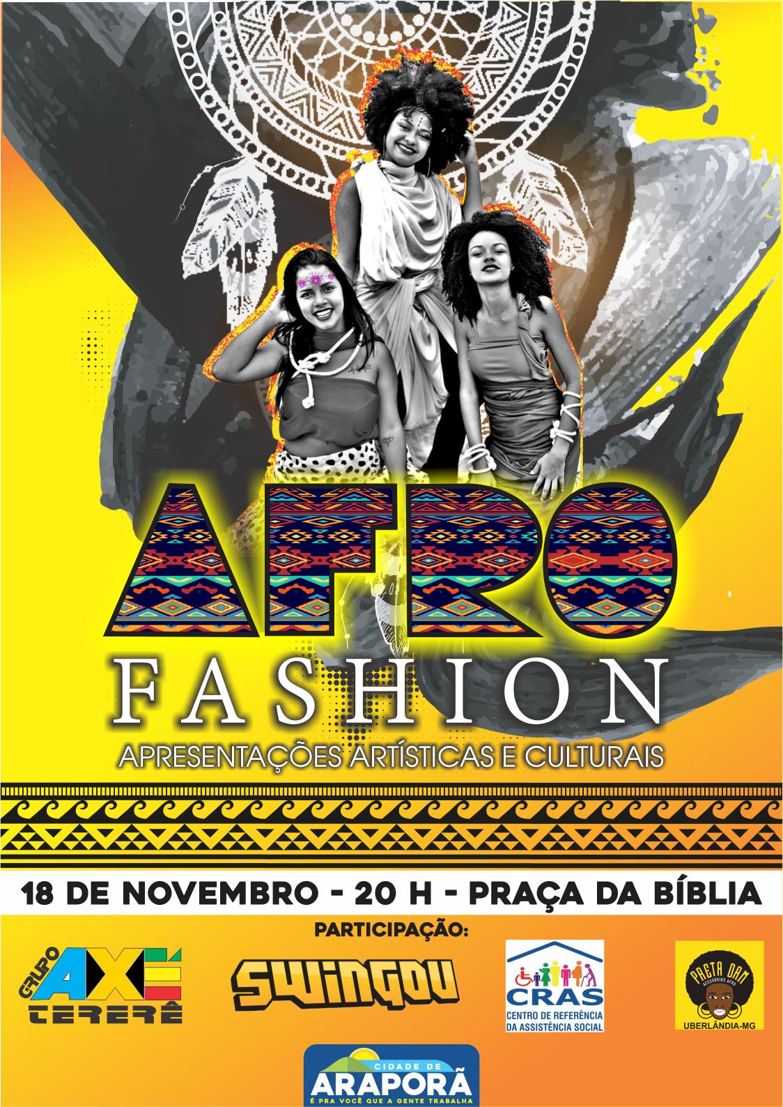 Imagem destaque notícia Desfile Afro Fashion comemora Dia da Consciência Negra