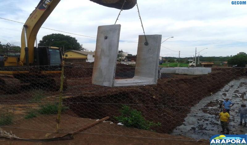 Imagem destaque notícia Prefeitura intensifica obra no Córrego Alvorada
