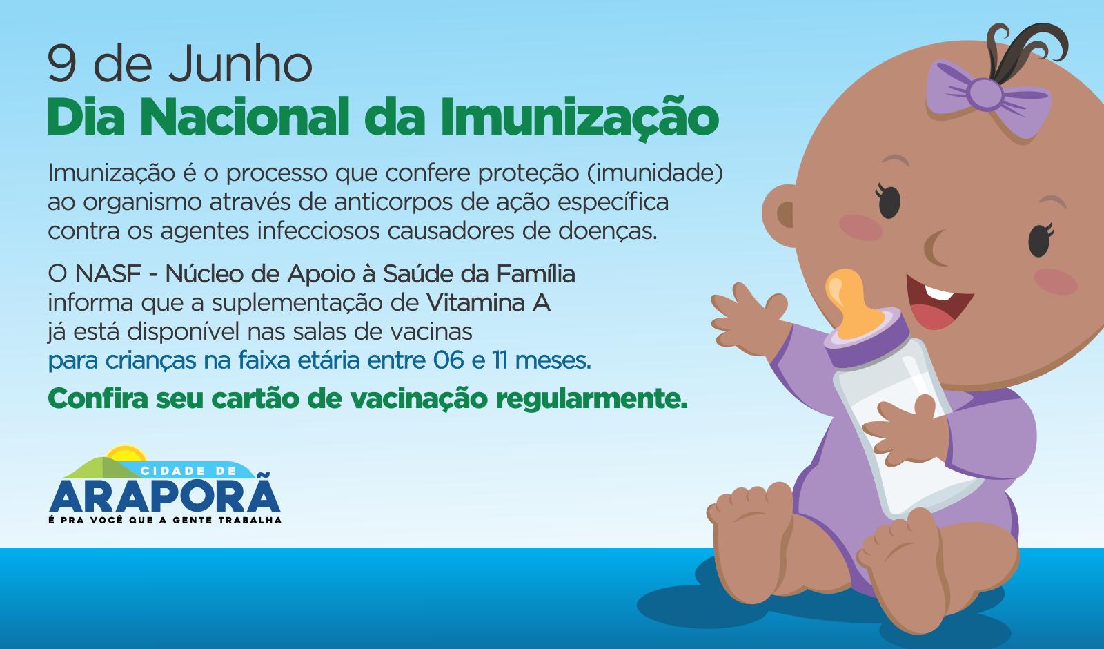 Imagem destaque notícia Saúde comemora hoje Dia Nacional da Imunização