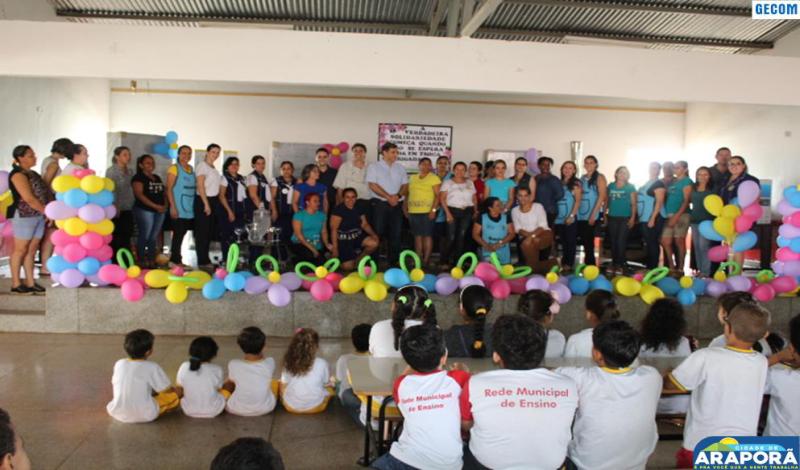 Imagem destaque notícia Usina doa R$ 30 mil em equipamentos para Escola Prefeito Wilmar