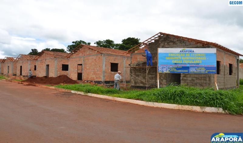 Imagem destaque notícia Prefeitura investe mais de R$ 500 mil na construção de casas em Araporã