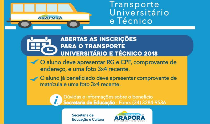 Imagem destaque notícia Secretaria da Educação inicia cadastramento de alunos para o transporte universitário
