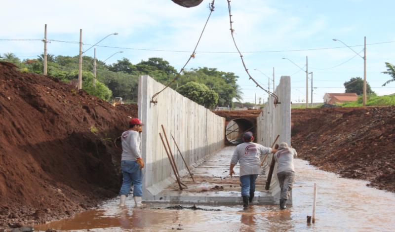 Imagem destaque notícia Canalização do Córrego Alvorada