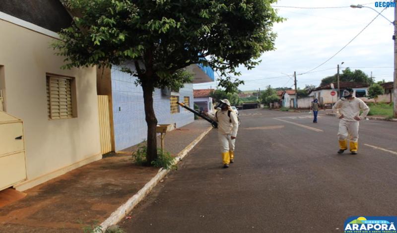 Imagem destaque notícia Epidemiologia realiza ação de bloqueio contra a dengue em Araporã