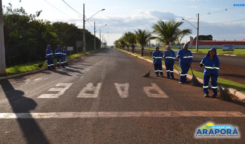 Imagem destaque notícia Araporã é exemplo em limpeza urbana
