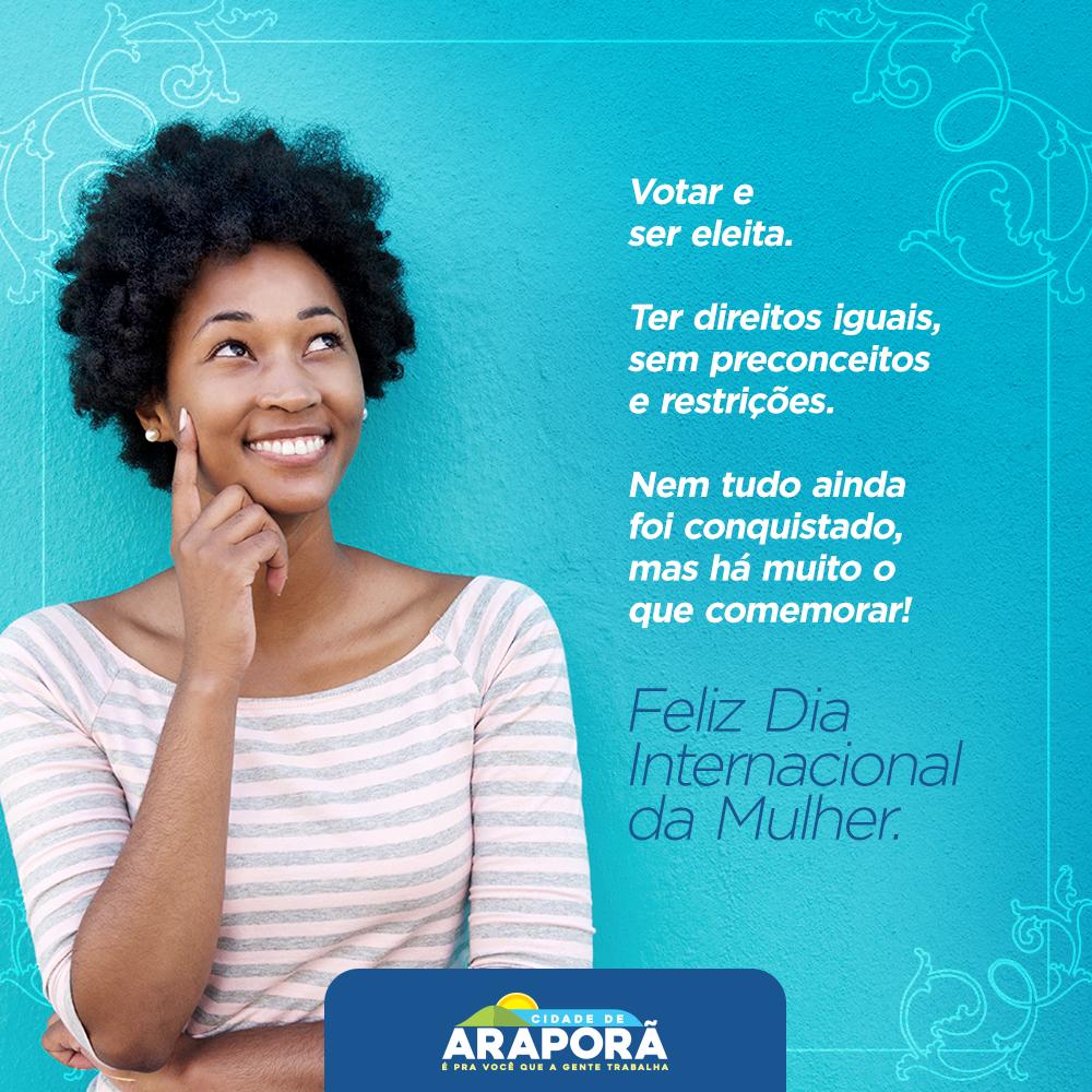 Imagem destaque notícia Prefeitura de Araporã parabeniza mulheres pelo seu dia